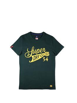 T-shirt superdry collegiate ENAMEL GREEN