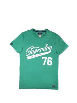 T-shirt superdry collegiate OREPOU GREEN