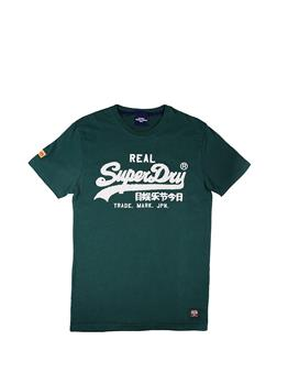 T-shirt superdry chenille tee PINE GREEN