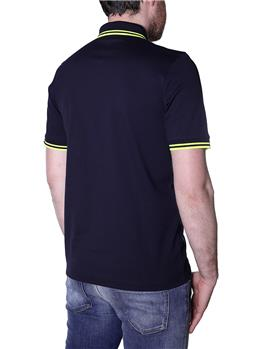 Polo fred perry made in japan BLU RIGA GIALLA