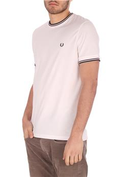 T-shirt fred perry uomo BIANCO