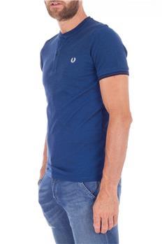 Fred perry t-shirt serafino BLU CHIARO