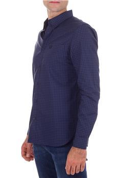 Camicia fred perry quadri BLU