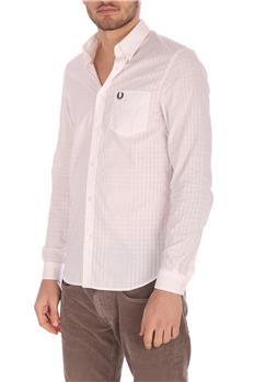 Camicia fred perry uomo cotone BIANCO