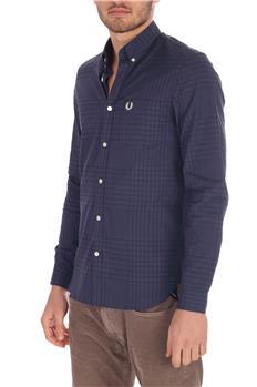 Camicia fred perry uomo cotone BLU