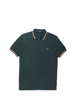 Fred perry polo mezza manica GREEN EVRGRN SNW DCARA
