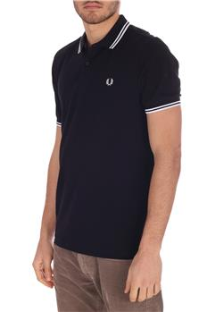 Polo fred perry uomo classica BLU SCURO
