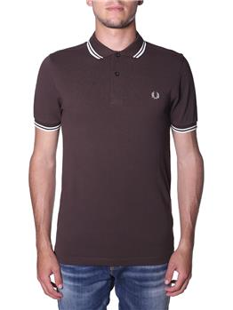 Polo fred perry mezza manica MARRONE