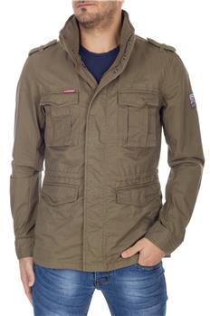 Superdry field jacket cotone VERDE MILITARE