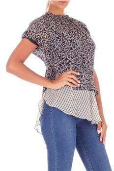 Twin set blusa a fiori NERO