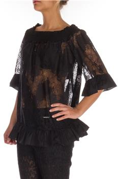 Twin set blusa con canotta NERO