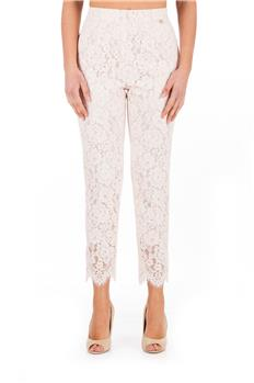 Pantalone twin set pizzo ROSA