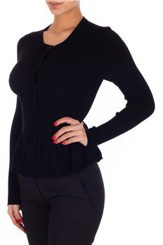 Cardigan twin set bottoni NERO