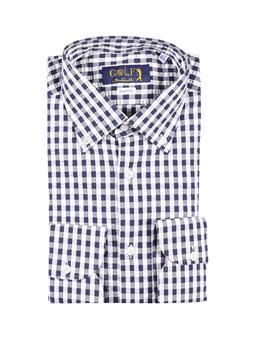 Camicia golf by montanelli BIANCO E BLU P1