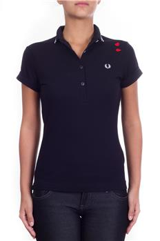 Polo fred perry donna cuori NERO