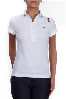 Polo fred perry donna cuori BIANCO Y7