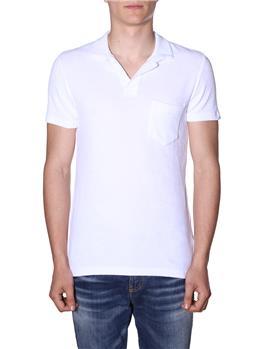 T-shirt orlebar brown spugna BIANCO