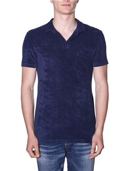 T-shirt orlebar brown spugna BLU
