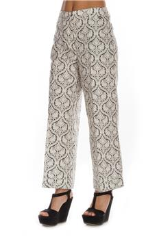 Twin set pantalone damascato BIANCO E NERO