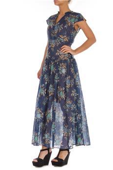 Twin set abito lungo a fiori BLU