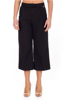Pantalone twin set largo NERO