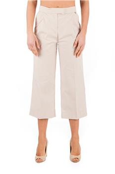 Pantalone twin set largo BEIGE