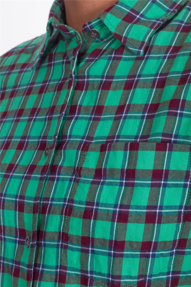 buy online 62dfd 272a1 Camicia aspesi donna quadri VERDE Q3