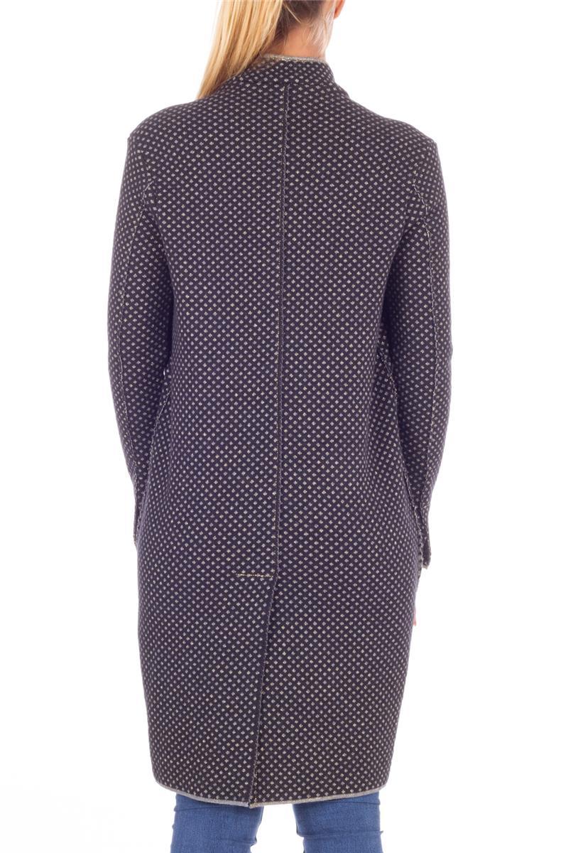 lowest price a494b 20302 Manila grace cappotto maglia NERO E GRIGIO