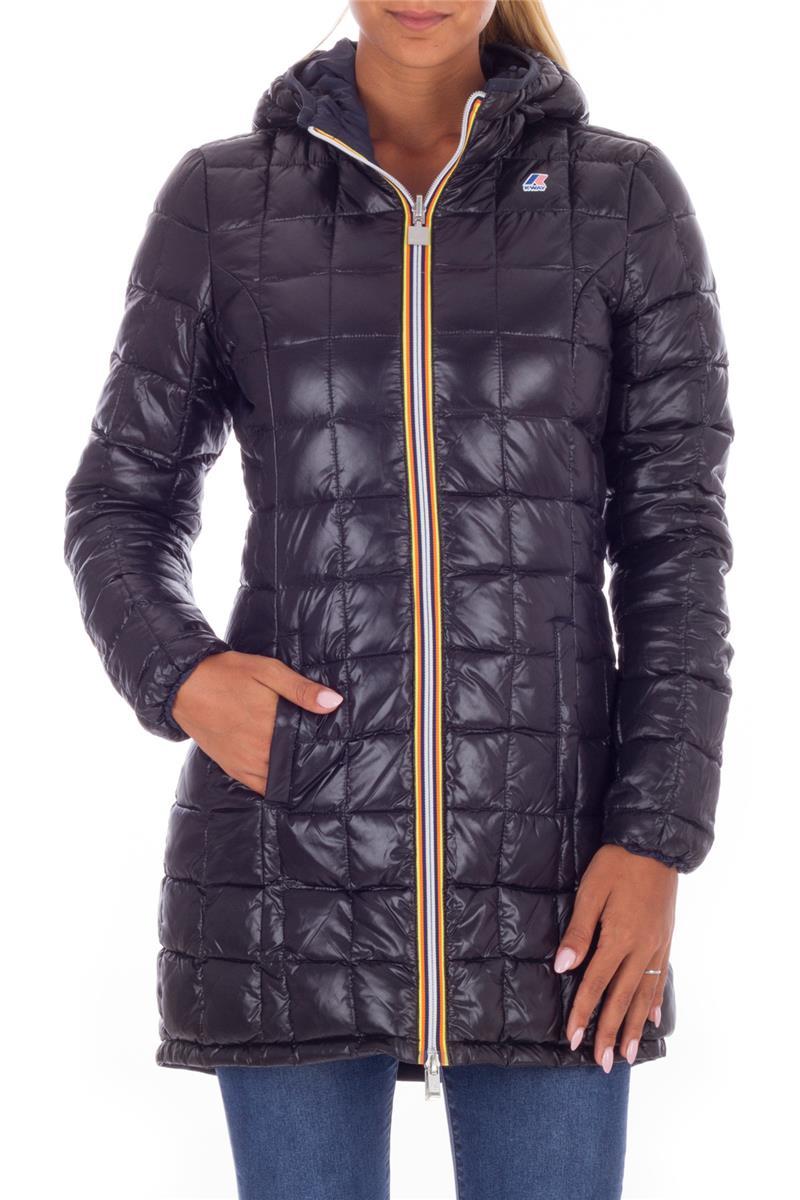 sale retailer f28ae 90cb2 Piumino k-way donna BLU