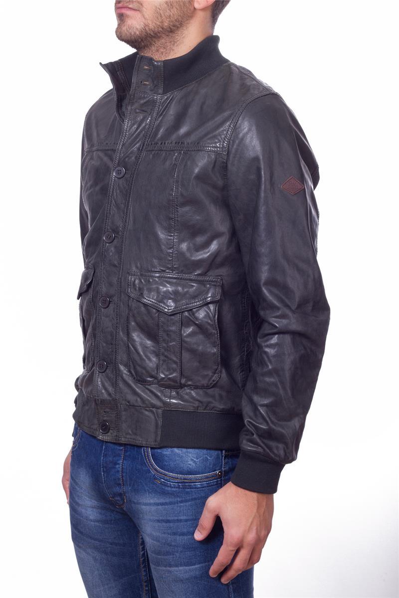 sale retailer f91aa d83f4 Roy rogers giubbotto pelle VERDE P6
